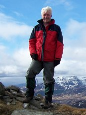 Alan on the summit of Creag Pitridh, 2011