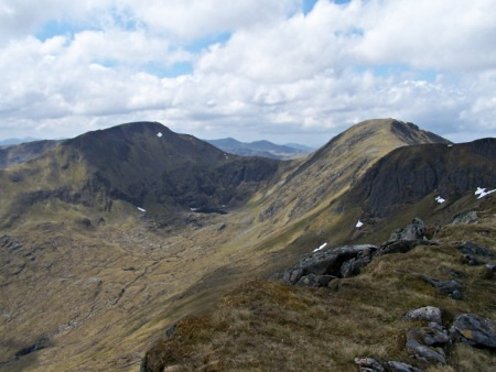 Carn Eighe and Mam Sodhail from Sron Garbh