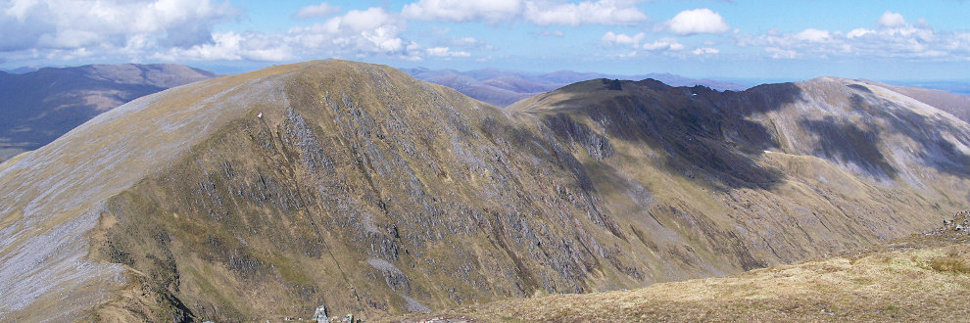The Carn Eighe ridge from Mam Sodhail